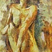 Yellow Nude Art Print