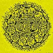 Yellow Oreo Art Print