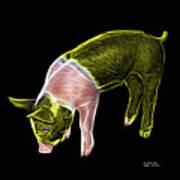 Yellow Piglet - 0878 F Art Print