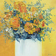 Yellow Roses Art Print