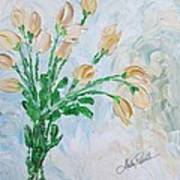 Yellow Roses Print by Molly Roberts
