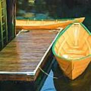 Yellow Rowboats Art Print