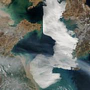 Yellow Sea - Satellite View Art Print