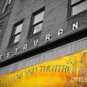 Yellow Sign Theatre Art Print