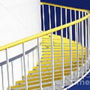Yellow Steps 2 Art Print