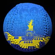 Yellow Submarine 2 Baseball Square Art Print