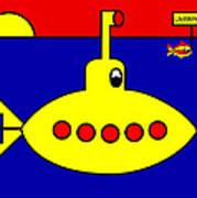Yellow Submarine Heading for LIVERPOOL Art Print