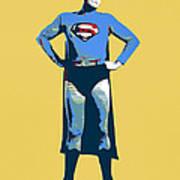 Yellow Superman Art Print
