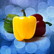 Yellow Sweet Pepper - Square - Textured Art Print