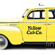 Yellow Taxi Cab Art Print