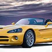 Yellow Viper Convertible Art Print