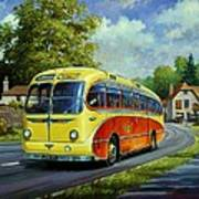 Yelloways Seagull Coach. Art Print
