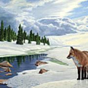 Yellowstone Fox Art Print