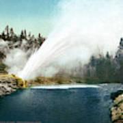 Yellowstone Geyser, C1905 Art Print
