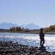 Yellowstone River Fly Fishing Art Print