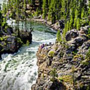 Yellowstone - Upper Falls Art Print