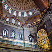 Yeni Valide  Camii Mosque Istanbul Turkey Art Print
