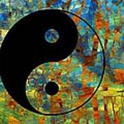 Yin Yang Abstract Art Print