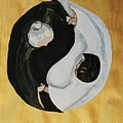 Yin Yang  Generations Hand In Hand Art Print