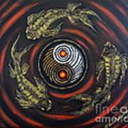 Yin Yang - Koi Fish Art Print