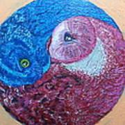 Ying Yang Owls Art Print