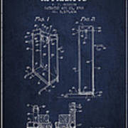Yoga Exercising Apparatus Patent From 1968 - Navy Blue Art Print