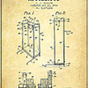 Yoga Exercising Apparatus Patent From 1968 - Vintage Art Print