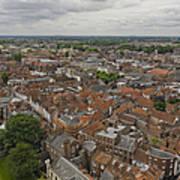 York From York Minster Tower II Art Print