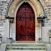 Yorkshire Church Door Art Print
