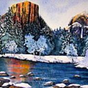 Yosemite In Winter I Art Print