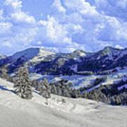 Yosemite National Park Winter Art Print