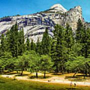 Yosemite Valley Along Yosemite River Beach Art Print