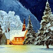 Yosemite Valley Chapel Art Print