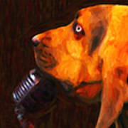 You Ain't Nothing But A Hound Dog - Dark - Painterly Art Print