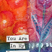 You Are In My Prayers- Watercolor Art Card Art Print