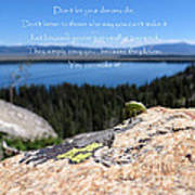 You Can Make It. Inspiration Point Art Print