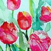 You Enlighten Me- Painting Of Tulips Art Print