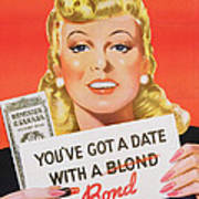 You Ve Got A Date With A Bond Poster Advertising Victory Bonds  Art Print