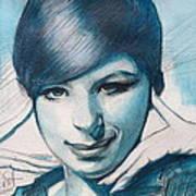 Young Barbra Streisand Art Print