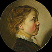 Young Boy In Profile  Art Print