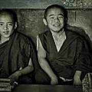 Young Buddhist Monks Art Print