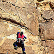 Young Climber In Joshua Tree Np-ca- Art Print