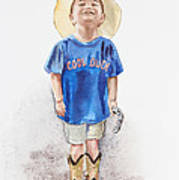 Young Cowboy  Art Print
