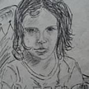 Young Fan Art Print