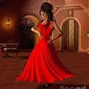 Young Flamenco Dancer Art Print