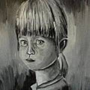 Young Girl Crying Art Print