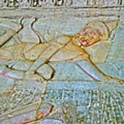 Young God-figure On Wall In Angkor Wat In Angkor Wat Archeological Park Near Siem Reap-cambodia Art Print
