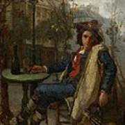 Young Italian Street Musician Art Print by Thomas Couture