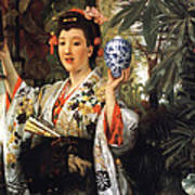 Young Japanese Lady Art Print