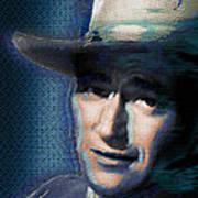 Young John Wayne Pop 2 Art Print